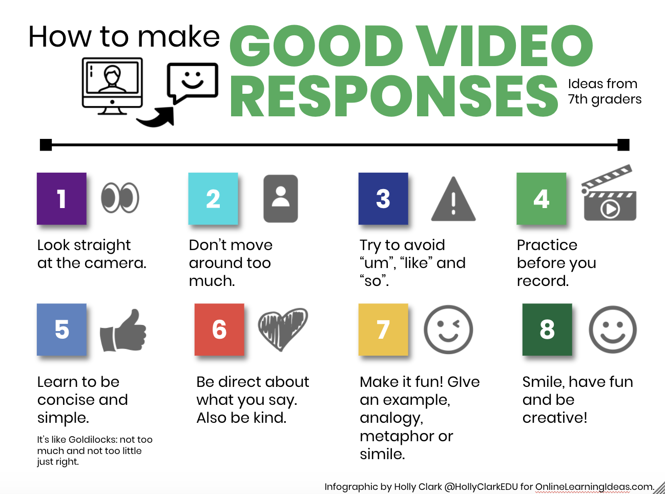 8 Tips for Creating Great Video Responses or Engaging Comments | The Infused Classroom